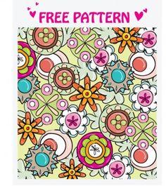 lovely pattern vector 3