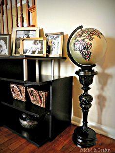 I love this upcycled globe!!!