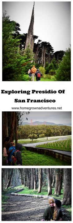 When people hear San Francisco the first things that comes to mind is the Golden Gate Bridge, Fisherman's Wharf, and Alcatraz. However, Presidio is such a gem. Check out what you can see and do in Presidio. http://www.homegrownadventures.net/presidio/