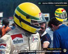 Adesivo Ayrton Senna F1 Capacete 1984 F1 Formula 1 Sticker