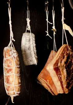 I wish my wine fridge looks liked this.  It has meat hanging in it, just not this cool.