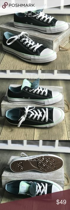 d17ab6adf28f Converse Ctas OX Double Tongue Black Green W AUTHE