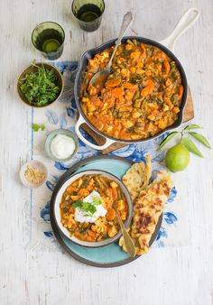 My healthier veggie loaded butter chicken curry with roasted cauliflower and carrots
