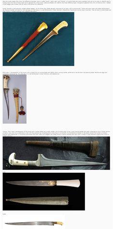 Afghan daggers (karud, choora, pesh-kabz).