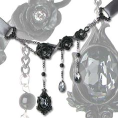 Black Rose Dripping Choker $41.00
