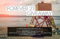 $300 Forever 21 Giveaway at PrettyThrifty.com !!