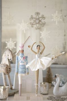 Casse Noisette dolls tutorial from Tilda book - a French fabric retailer - book editor   claradeparis.com loves the magical aspect of this casse-noisette ballet