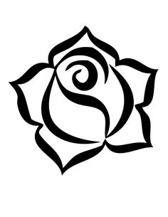 Rose Logo Coloring Page | H & M Coloring Pages