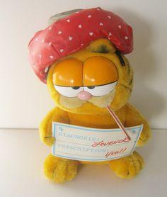 Vintage 80s Garfield Lovesick Plush Toy 1981 Dakin Stuffed Animal. $14.00, via Etsy.