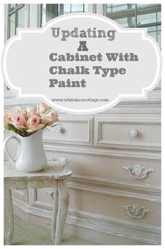 Updating A China Cabinet With Chalk Type Paint . Taking this 1990's china cabinet, and updating it with a little paint. www.whitelacecottage.com