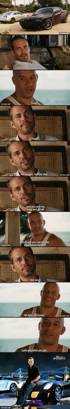 Paul Walker and Vin Diesel in Fast Five Vin Diesel, Fast And Furious, The Furious, Paul Walker Quotes, Rip Paul Walker, Michelle Rodriguez, Movies Showing, Movies And Tv Shows, Gal Gadot
