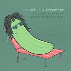 As cool as a cucumber | #abitofhappiness #illustration
