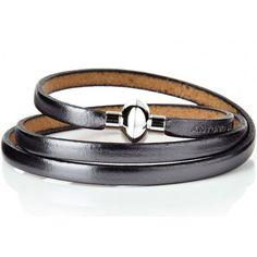 Rainbow Old Silver Leather Bracelet