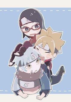 I pity konohamaru Mitsuki Naruto, Boruto And Sarada, Naruto Shippuden Sasuke, Naruto And Sasuke, Anime Naruto, Gaara, Fanarts Anime, Anime Chibi, Anime Manga