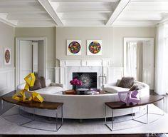 Living Room | Fireplace Ideas | Tamara Mellon | Fashion Designer | Hamptons House | Home Decor