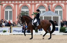 Isabell Werth riding Don Johnson FRH to victory in the CDI4* Grand Prix at Wiesbaden, Germany. ©2015 Ken Braddick/dressage-news.com