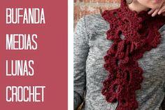 Bufanda Medias Lunas Crochet Patron