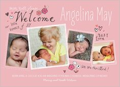 Drum Roll Please Girl Birth Announcement shutterfly.com
