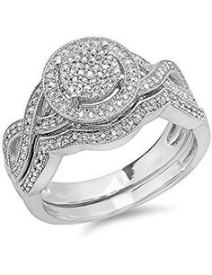 Sterling Silver Diamond Womens Engagement. * You can find more details by visiting the image link. (This is an affiliate link) #BridalSets