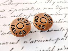 Vintage Metal Buttons Round Copper 1/2 Set of by VikisVarietyCraft
