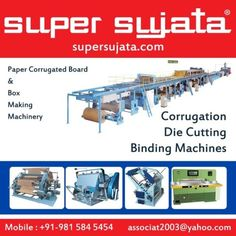 3-5-7 Ply Automatic Paper Corrugated Board and box Making Plant Machinery | Paper Corrugated Board & Box Making Machinery Manufacturers & Exporters . http://www.supersujata.com/3-ply-corrugated .. #Corrugated_Box_Making_Machine #Corrugation_Plant_Machinery #3_5_Ply_Corrugated_Board #Amritsar