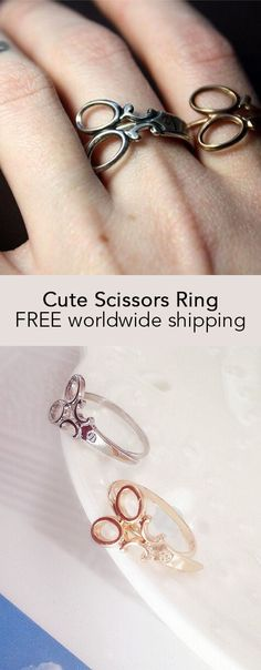 Cute Scissors Ring