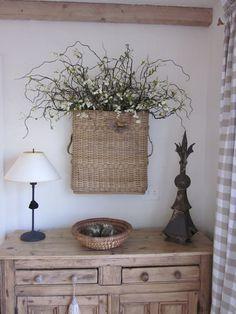 *Enchanting Le' Fleur O' My Heart...Basket of floral twigs.
