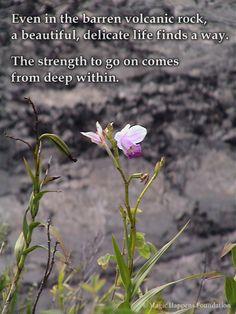 Your strength lies deep inside