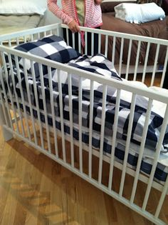 Hastens crib bedding