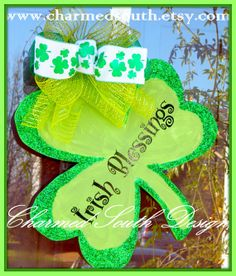 St Patty Wood Shamrock Door Hanger. $35.00, via Etsy.