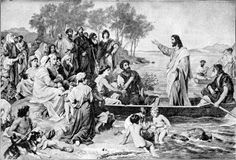 """January 22nd - Mark 3:7-12: He told his disciples to have a boat ready for him because of the crowd, so that they would not crush him. He had cured many and, as a result, those who had diseases were pressing upon him to touch him. And whenever unclean spirits saw him they would fall down before him and shout, """"You are the Son of God."""" He warned them sternly not to make him known."""