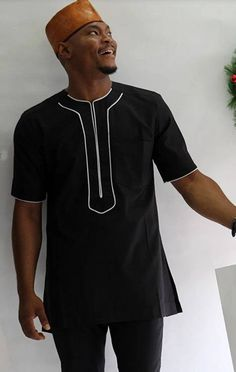 Look at this Fashionable womens african fashion African Attire For Men, African Clothing For Men, African Shirts, African Wear, African Dress, African Style, African Outfits, African Fabric, African Clothes