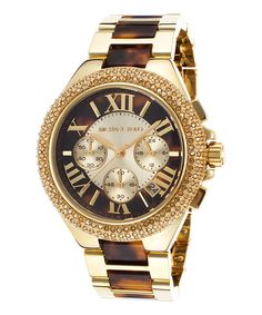 Goldtone Stainless Steel & Crystal Bracelet Watch