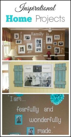 These inspirational home projects highlight Marty's Musings desire to reflect the tight bond of family created through both adoption and biology. From an old window photo frame to scripture verses on the wall, these DIY projects will both encourage and inspire you to make your own home beautiful!