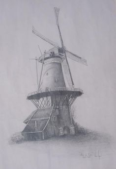 Molen near Delft Holland Artist:Venessa Lagrand