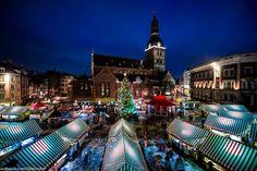 Christmas market in Rīga, Latvia
