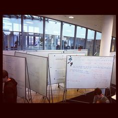 Rolling whiteboards blocking the way by Freenerd, via Flickr