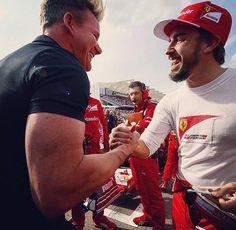 Gordon Ramsay and Fernando Alonso #f1 #2014#USGP