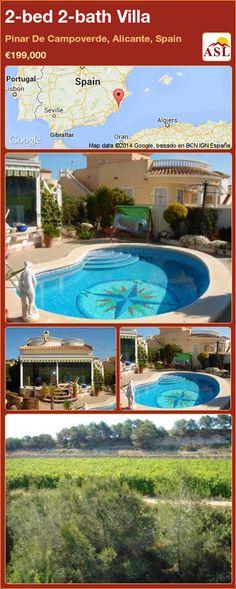 2-bed 2-bath Villa in Pinar De Campoverde, Alicante, Spain ►€199,000 #PropertyForSaleInSpain