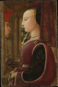 Portrait of a Woman with a Man at a Casement Fra Filippo Lippi 1440