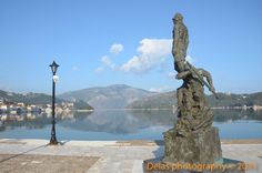 The statue of Odysseus in the port of Ithaca, standing very close to the central square. Central Square, The Hard Way, The Visitors, The Other Side, Greek Islands, Greece Travel, New Image, Paddle, Statue Of Liberty