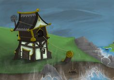 Tipsy or Lopsided house Geisha Book, Books, House, Libros, Home, Book, Book Illustrations, Homes, Houses