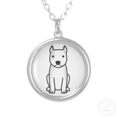 American Staffordshire Terrier Dog Cartoon Jewelry
