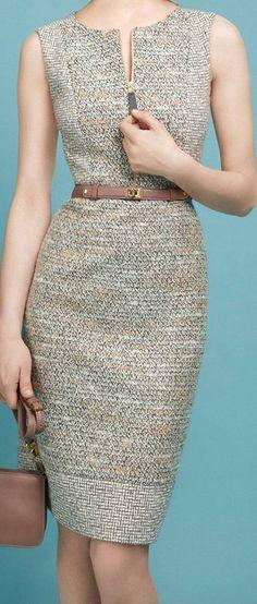 Idea: Mix patterns in a princess seam dress, but just the bodice? Fashion Mode, 80s Fashion, Work Fashion, Indian Fashion, Korean Fashion, Fashion Dresses, Fashion Quiz, Fashion Hats, Grunge Fashion