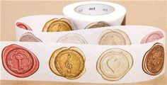 wide mt Washi Masking Tape deco tape with seals