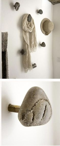 beautiful stones that work as a #hatstand