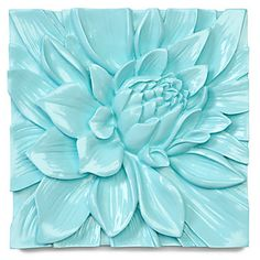 A Z Gallerie exclusive, our refreshingly clean gloss aquamarine Lotus Flower plaque will give a lift to your tired walls.