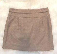 J.Crew Size 6 Tan Metallic Gold Thread Linen Blend Mini Career Skirt EUC    eBay