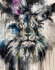 'Focus'by Katy Jade Dobson / Oil painting / Lion