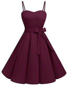 Bbonlinedress Vintage Retro Rockabilly Cocktailkleid mit abnehmbarem Schultergurt Red White Dot L Pretty Prom Dresses, Grad Dresses, Dance Dresses, Elegant Dresses, Pretty Outfits, Homecoming Dresses, Cute Dresses, Vintage Dresses, Beautiful Dresses